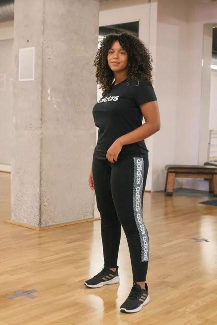 ADIDAS - Small  Women's Slim T-Shirt - Black/Print, Black