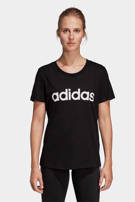 ADIDAS - Large  Women's Slim T-Shirt - Black/Print, Black