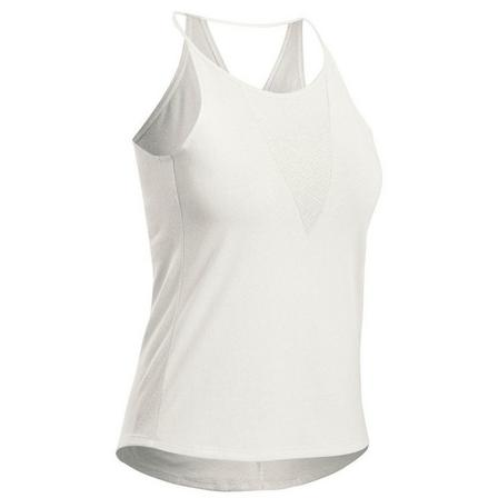 QUECHUA - Extra Large  Women's Country Walking Vest Top NH500, White