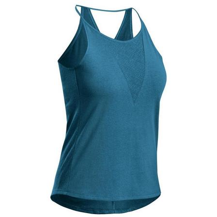 QUECHUA - Small  Women's Country Walking Vest Top NH500, Dark Petrol Blue