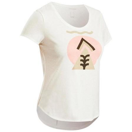 QUECHUA - Large  Women's Country Walking T-shirt - NH500, White