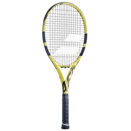 BABOLAT - Grip 2  Aero G Adult Tennis Racket - Black / Yellow, Default