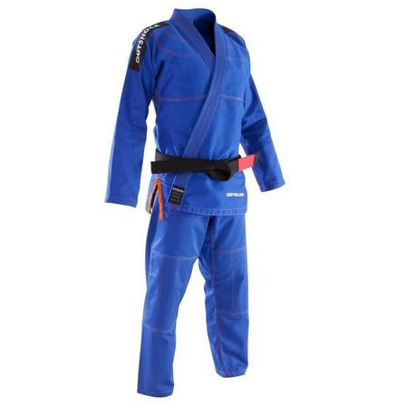 OUTSHOCK - A0 155-165cm  500 Brazilian Jiu-Jitsu Adult Uniform, Light Indigo