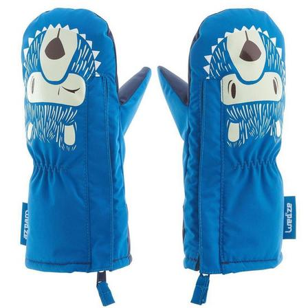 LUGIK - 6- 12 Months  Babies' Ski/Sledge Mittens Warm, Cobalt Blue