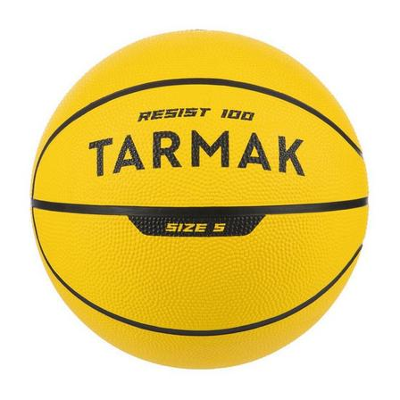 TARMAK - 5  Beginners' Size 5 (Up to 10 Years Old) Basketball R100 - Yellow, Fluo Yellow