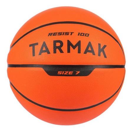 TARMAK - US 7  Kids'/Adult Size 7 Basketball R100 - Orange., Blood Orange