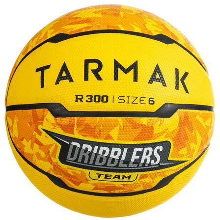 TARMAK - US 6  R300 Girls'/Boys'/Women's Beginner Size 6 Basketball - Yellow, Yellow