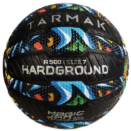 TARMAK - US 7  Adult Puncture-Proof Grippy Basketball R500 Size 7 - Graffiti., Black
