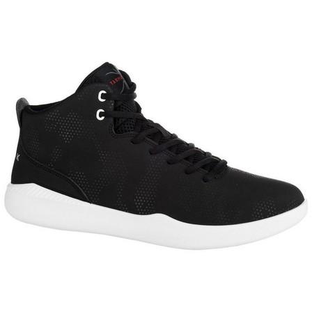 TARMAK - EU 44  Men's/Women's Beginner High-Rise Basketball Shoes Protect 100 - Black, Default