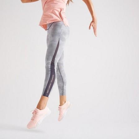 DOMYOS - W28 L31  High-Waisted Shaping Fitness Leggings, Black