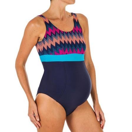 NABAIJI - Small/Medium  1-piece Maternity Swimsuit Romane, Navy Blue