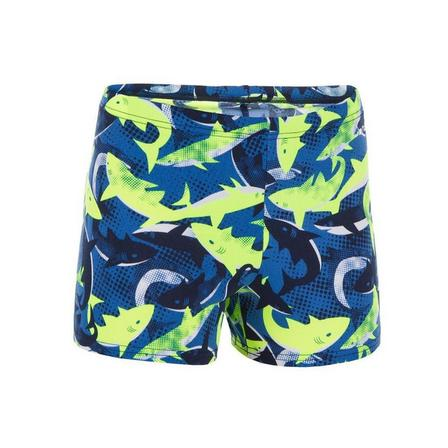 NABAIJI - 14-15 Years  500 Fit Adibo Boy's Swimming Boxer Shorts, Fluo Yellow