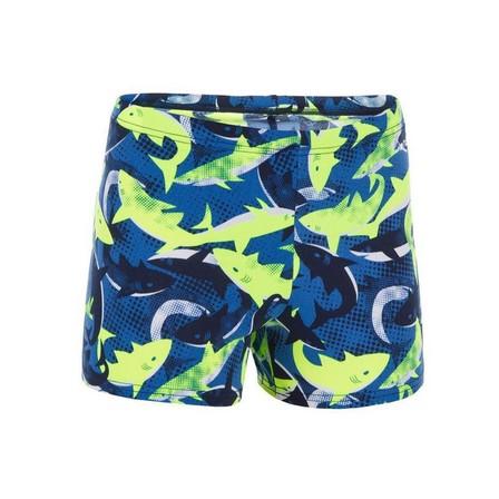 NABAIJI - 8-9Y  500 Fit Adibo Boy's Swimming Boxer Shorts, Fluo Yellow