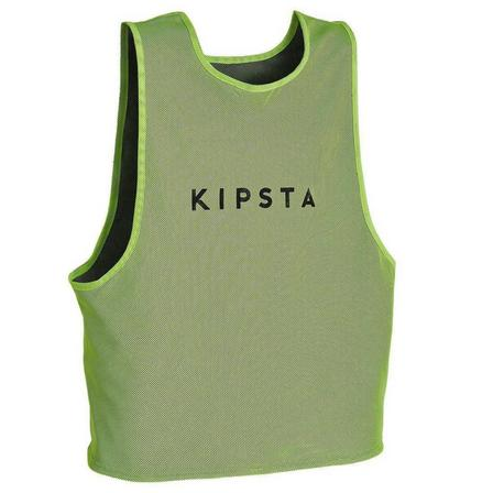 KIPSTA - Unique Size  Reversible Adult Sports Bib, Fluo Lime Yellow