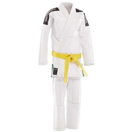 OUTSHOCK - M4 145-155cm  500 Brazilian Jiu-Jitsu Kids' Uniform, Snow White