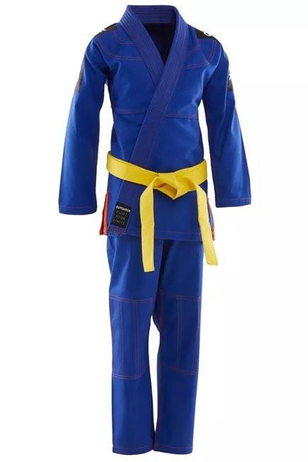 OUTSHOCK - M2 125-135cm  500 Brazilian Jiu-Jitsu Kids' Uniform, Light Indigo