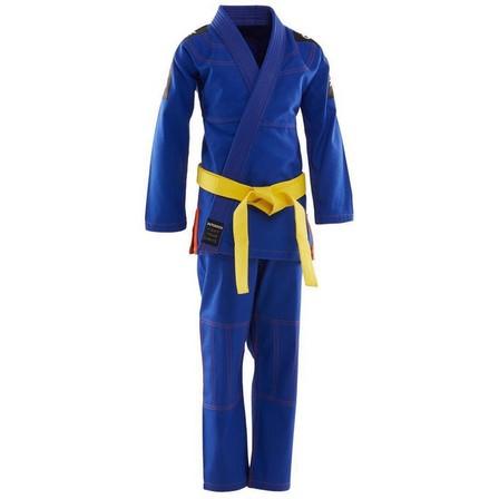 OUTSHOCK - M3 135-145cm  500 Brazilian Jiu-Jitsu Kids' Uniform, Light Indigo
