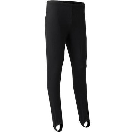 DOMYOS - 8-9Y  Men's Artistic Gymnastics Stirrup Pants, Black