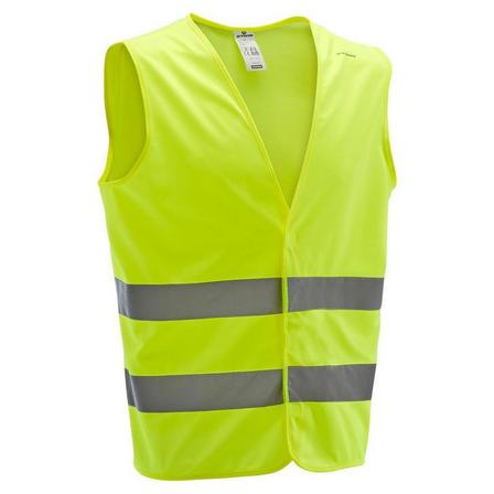 BTWIN - L/XL  500 Adult Hi-Vis Cycling Gillet - EN1150, Fluo Yellow
