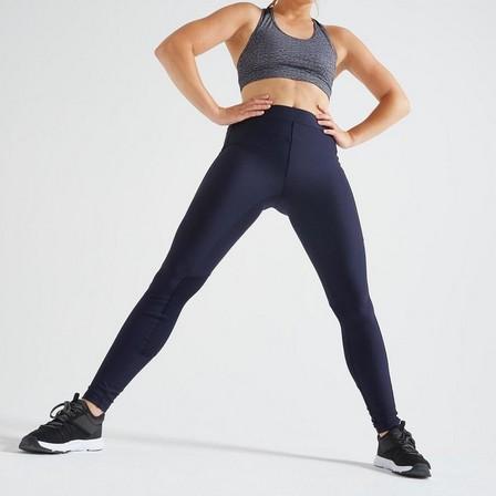 DOMYOS - W28 L31  120 Women's Fitness Cardio Training Leggings, Asphalt Blue