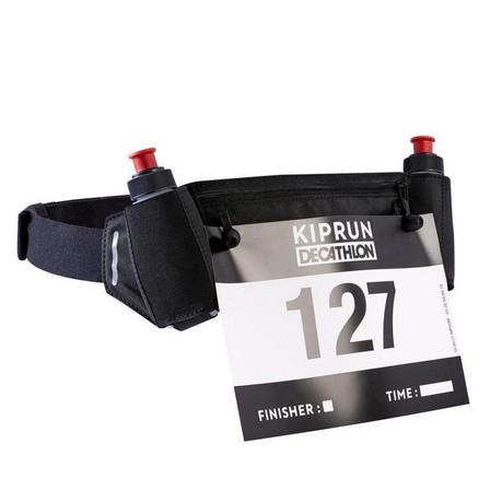 KIPRUN - Unique Size  RUNNING 115 ML BOTTLE BELT + NUMBER HOLDER, Default