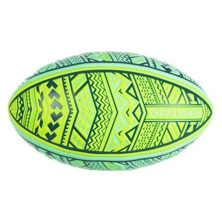 OFFLOAD - 1  Beach Rugby Ball R100 Midi Maori, Fluo Green