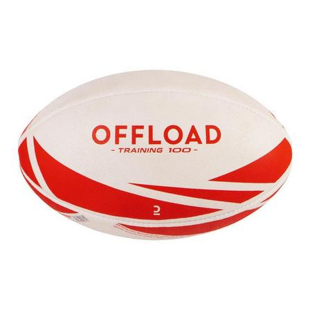 OFFLOAD - 4  R300 Size 4 Rugby Ball, Snow White
