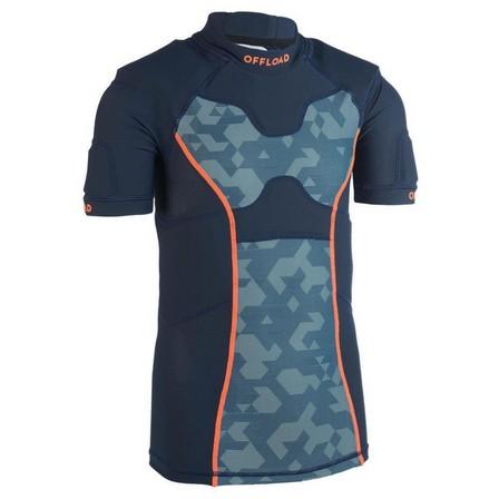 OFFLOAD - 10-11Y  Kids' Rugby Shoulder Pads R100 - Turtle, Blue Grey