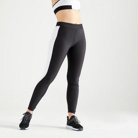 DOMYOS - W28 L31  120 Women's Fitness Cardio Training Leggings, Black