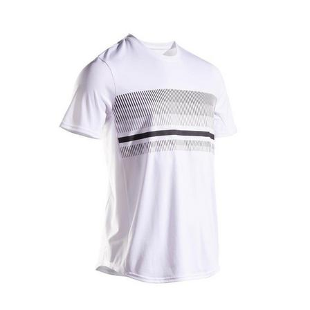 ARTENGO - Medium  Men's Tennis T-Shirt TTS100, Snow White