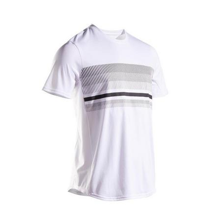 ARTENGO - Small  Men's Tennis T-Shirt TTS100, Snow White