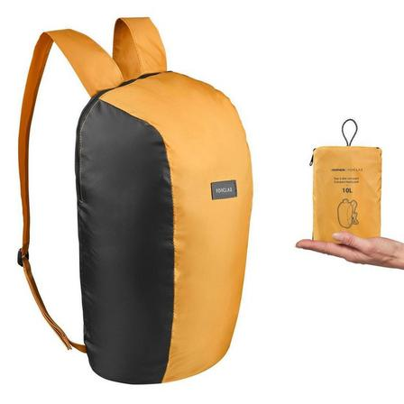 FORCLAZ - Unique Size  Compact Travel Trekking Backpack TRAVEL 10 L, Yellow Ochre