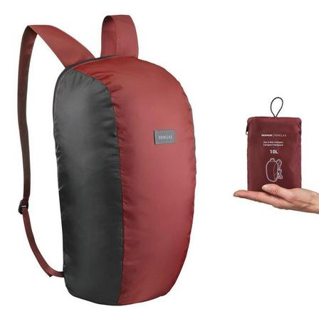 FORCLAZ - Unique Size  Compact Travel Trekking Backpack TRAVEL 10 L, Mahogany