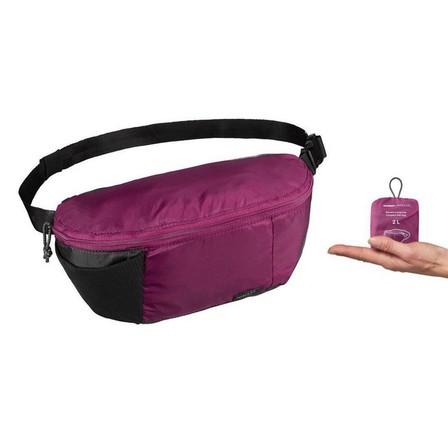 FORCLAZ - Unique Size  Compact 2 litre trekking travel bum bag TRAVEL 100, Purple