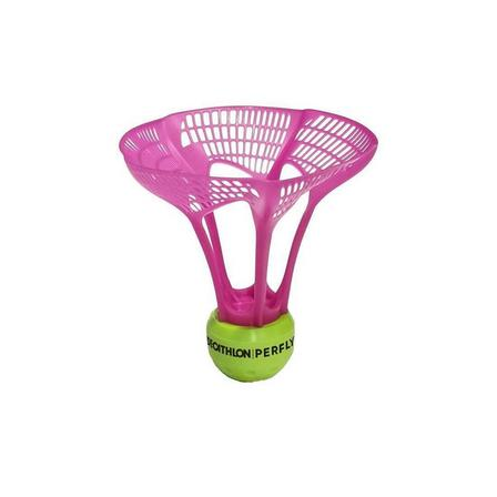 PERFLY - Unique Size  Badminton Outdoor AirShuttle PSC 930 - Set of 3, Fluo Peach