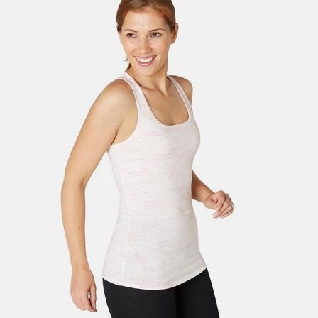 NYAMBA - Medium  Stretchy Cotton Fitness Tank Top, Light Pink