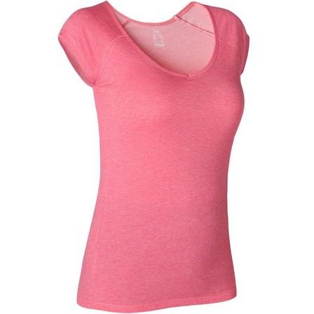 NYAMBA - Large  Women's Slim T-Shirt 500, Pink