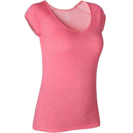 NYAMBA - Small  Women's Slim T-Shirt 500, Pink