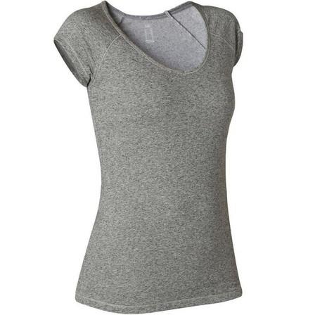 NYAMBA - Small  Women's Slim T-Shirt 500, Grey