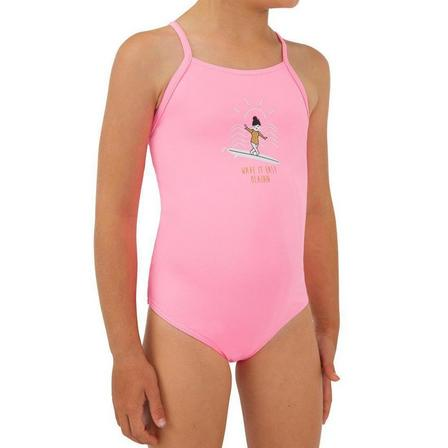 OLAIAN - 5-6Y  1-piece swimsuit HANALEI 100 - NEON, Fluo Pink