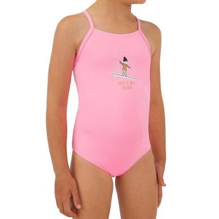 OLAIAN - 7-8Y  1-piece swimsuit HANALEI 100 - NEON, Fluo Pink
