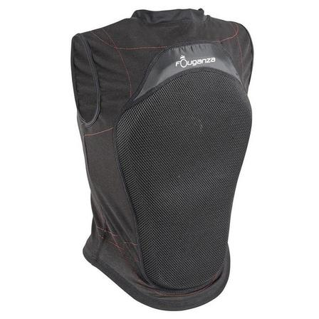FOUGANZA - Small  Adult and Children's Flexible Horse Riding Back Protector - Black, Default