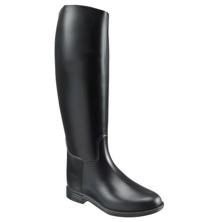 FOUGANZA - EU 37  Schooling Adult Horse Riding Long Boots - Black, Black