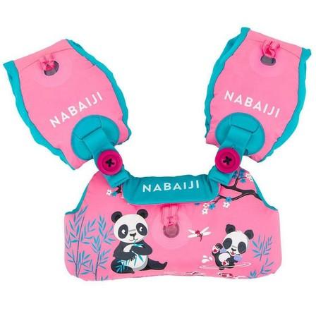 NABAIJI - Unique Size  Tiswim progressive 15-30 kg armband-belt -  mermaid design, Fluo Pink
