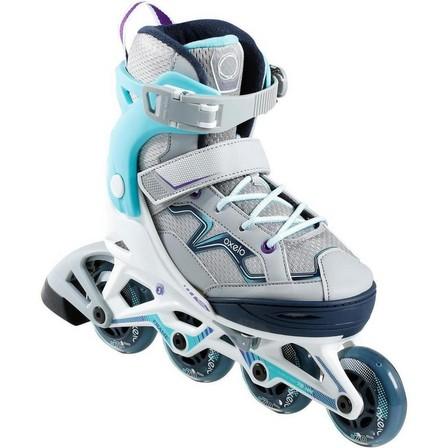 OXELO - UK C10.5-13 - EU 29-32  Fit 3 Kids' Fitness Skates, Dark Blue