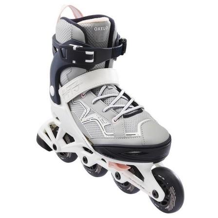 OXELO - EU 35-38  Fit 3 Kids' Fitness Skates, Dark Blue