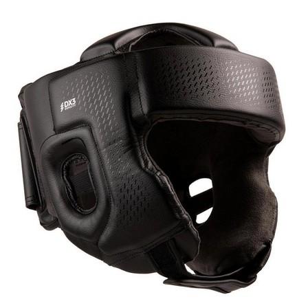 OUTSHOCK - 55-59 cm  Adult Boxing Open Face Headguard 900 - Black, Black