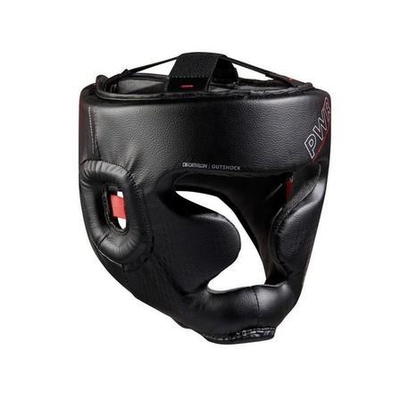 OUTSHOCK - 55-59 cm  Adult Boxing Full Face Headguard 500 - Black, Black