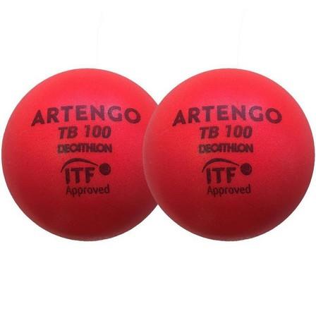 ARTENGO - Unique Size  9cm Foam Tennis Ball TB100 Twin-Pack, Default