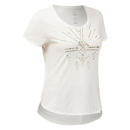 QUECHUA - Medium  Women's Country Walking T-shirt - NH500, White